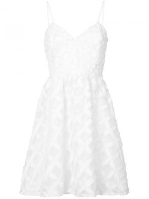 Платье Viola Zac Posen. Цвет: белый