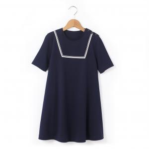 Платье расклешенное на 3-12 лет R édition. Цвет: синий морской