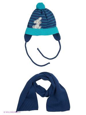 Шапка и шарф Grans. Цвет: оранжевый, синий