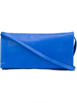 Клатч на ремешке Isaac Reina. Цвет: синий