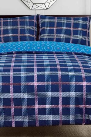 Постельное белье Евро, 50x70 СIOCCOLATO. Цвет: синий