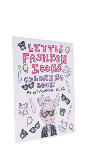 Little Fashion Icons Coloring Book KAHRI