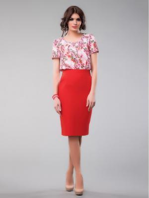 Блузка Be cara. Цвет: розовый, белый