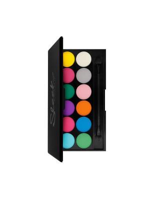 Sleek MakeUP палетка теней i-Divine Ultra Mattes 730 V1 Bright. Цвет: белый, голубой, желтый, зеленый, оранжевый, розовый, светло-зеленый, светло-серый, синий, сливовый, фиолетовый, фуксия