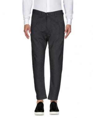 Повседневные брюки YES ZEE BY ESSENZA. Цвет: стальной серый