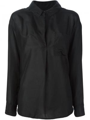 Блузка с карманом Raquel Allegra. Цвет: чёрный