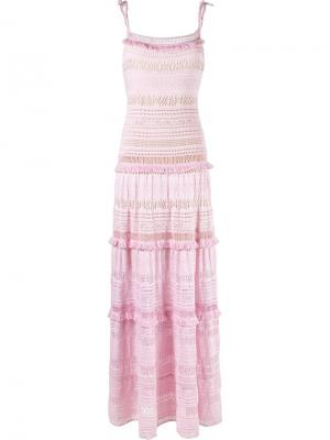 Вязаное платье Cecilia Prado. Цвет: розовый и фиолетовый