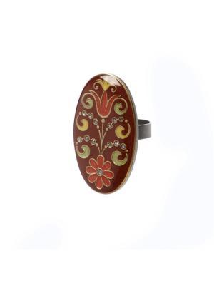 Кольцо Clara Bijoux. Цвет: светло-зеленый, желтый, красный