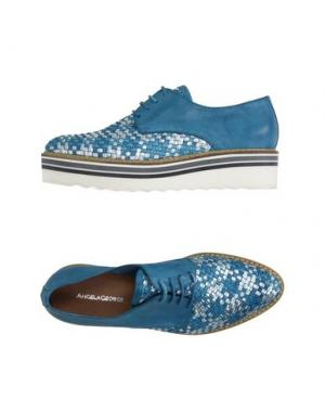 Обувь на шнурках ANGELA GEORGE. Цвет: бирюзовый