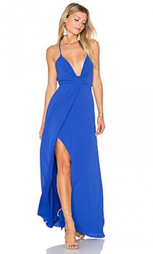 Макси платье misty SAYLOR. Цвет: королевский синий