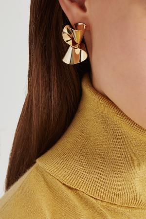 Золотистые серьги Lisa Smith. Цвет: золотой
