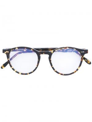 Round frame glasses Pantos Paris. Цвет: коричневый
