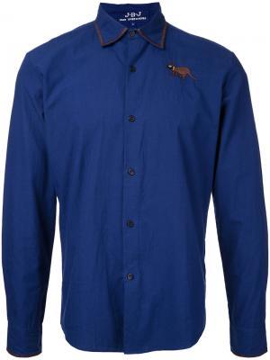Рубашка с вышивкой Jupe By Jackie. Цвет: синий