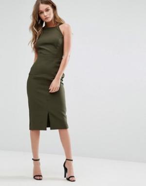 Alter Платье-сарафан миди. Цвет: зеленый