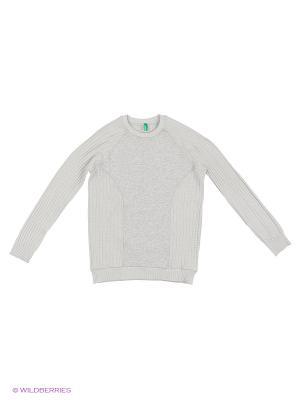Свитшот United Colors of Benetton. Цвет: серый, кремовый