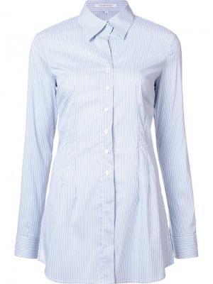 Рубашка в полоску Walter Voulaz. Цвет: синий