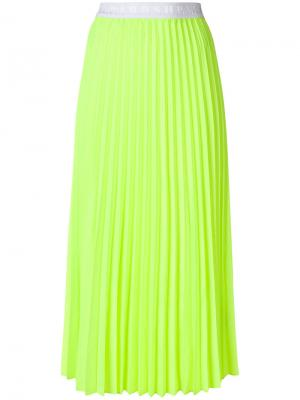 Плиссированная юбка-миди P.A.R.O.S.H.. Цвет: жёлтый и оранжевый