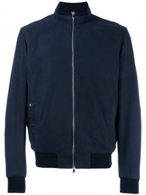 Куртка-бомбер на молнии Barba. Цвет: синий
