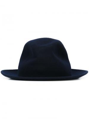 Фетровая шляпа Eleventy. Цвет: синий