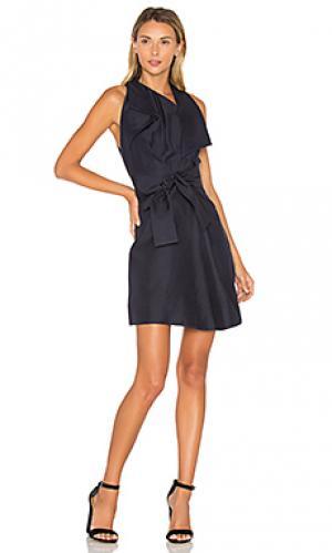Платье mercer Acler. Цвет: синий