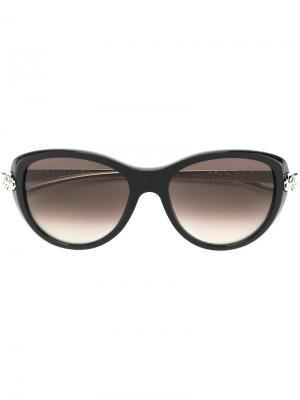 Солнцезащитные очки Panthère Wild Cat Cartier. Цвет: чёрный