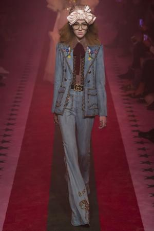Джинсовая куртка Gucci. Цвет: none