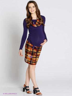 Платье UNIOSTAR. Цвет: фиолетовый, оранжевый