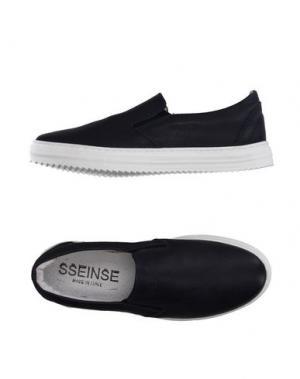 Низкие кеды и кроссовки SSEINSE. Цвет: темно-синий