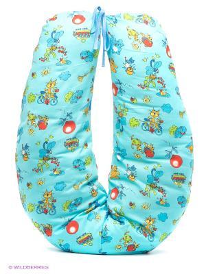 Подушка для беременных и кормящих ФЭСТ. Цвет: голубой