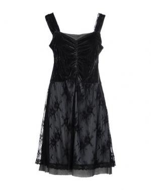 Платье до колена LA FEE MARABOUTEE. Цвет: темно-зеленый