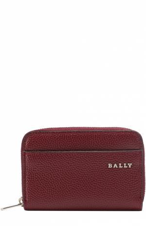 Кожаный футляр для монет с отделением кредитных карт Bally. Цвет: бордовый