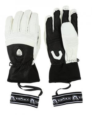 Лыжные перчатки level. Цвет: черно-белый