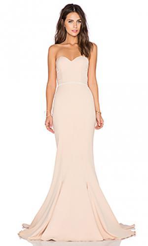 Вечернее платье arianna Elle Zeitoune. Цвет: беж
