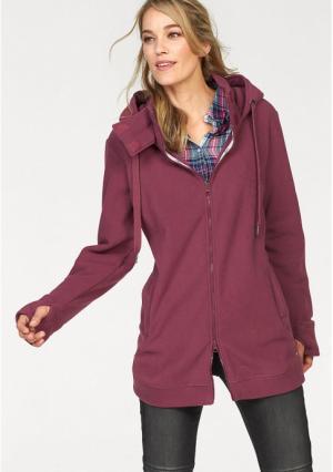 Флисовая куртка CHEER. Цвет: ягодный