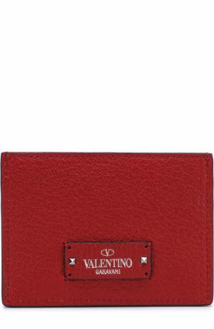 Кожаный футляр для кредитных карт Valentino. Цвет: красный