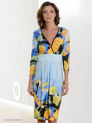 Платье Hammond. Цвет: голубой, желтый