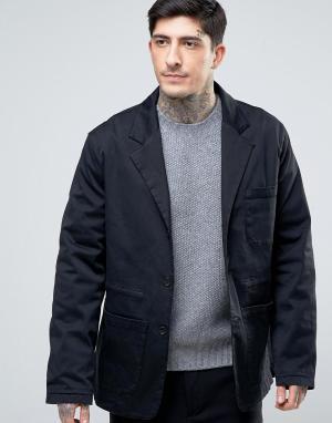 YMC Куртка с затягивающимся шнурком. Цвет: черный