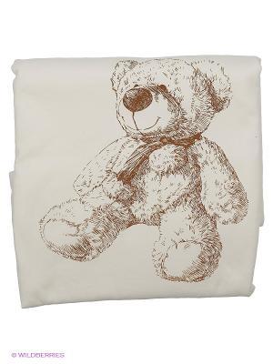 Плед  Медвежата Сонный гномик. Цвет: молочный