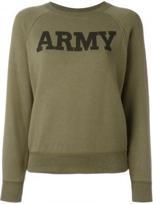 Толстовка с принтом Army Nlst. Цвет: зелёный