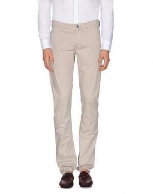 Повседневные брюки RE-HASH. Цвет: голубиный серый