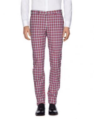 Повседневные брюки DAKS LONDON. Цвет: кирпично-красный