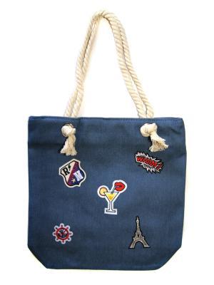 Пляжная сумка Lola. Цвет: голубой
