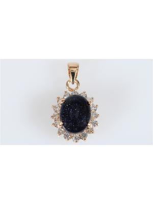 Кулон Авантюрин Lotus Jewelry. Цвет: золотистый, темно-синий