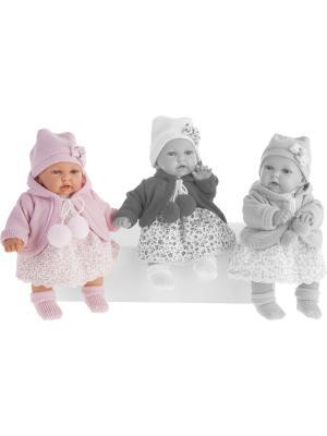Кукла Азалия в розовом, озвученная, 27 см Antonio Juan. Цвет: розовый