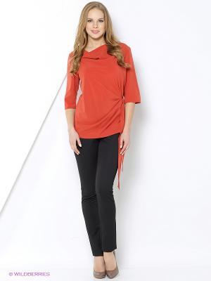 Блузка YUVITA. Цвет: оранжевый