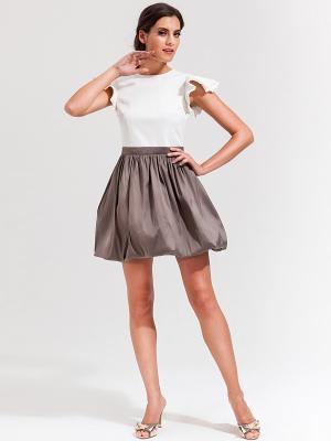 Платье La vida rica. Цвет: коричневый, белый