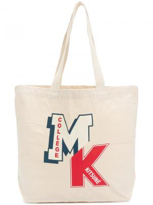 Сумка-тоут MK College Maison Kitsuné. Цвет: белый