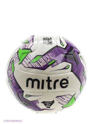 Мяч футбольный MITRE MANTO HYPERSEAM FIFA Inspected. Цвет: черный, салатовый, сиреневый, белый
