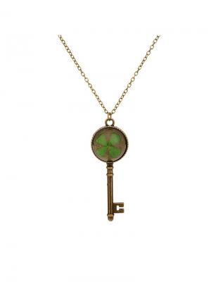 Подвеска Ключ к удаче Honey Jewelry. Цвет: бронзовый