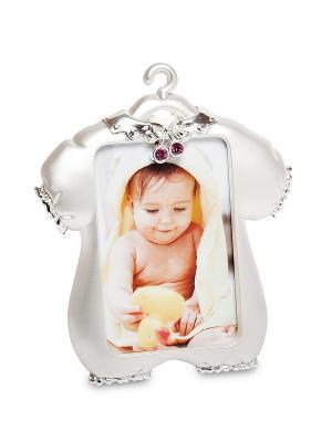 Фоторамка Маленькая принцесса 5*8 Bellezza casa. Цвет: серебристый